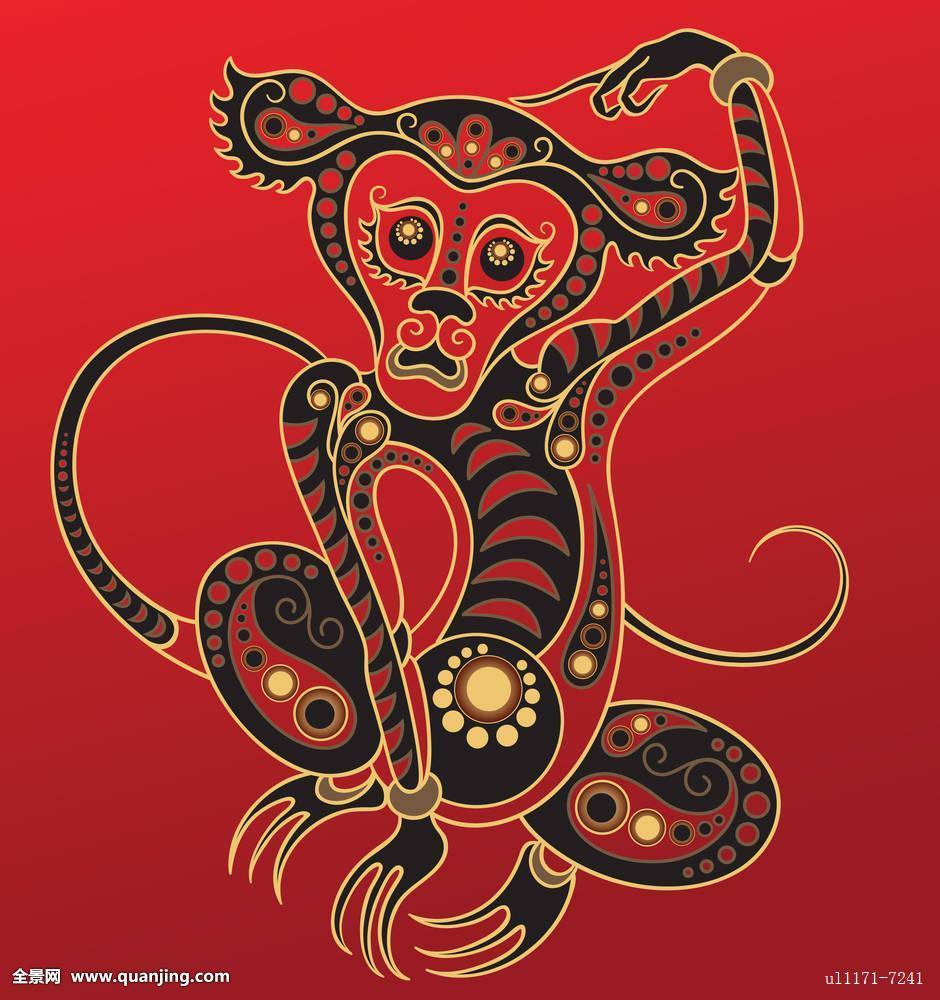 中国猴子种类_中国,占星,猴子