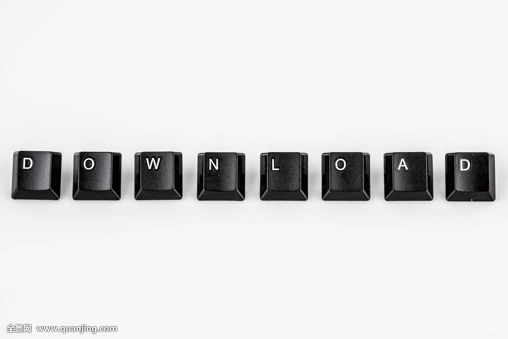 下载_下载,文字,书写,黑色,电脑,按钮,上方,白色