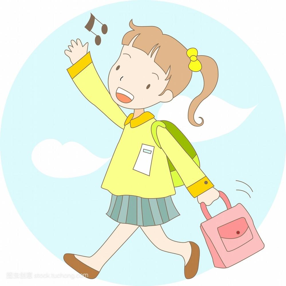 漫画_插图,漫画插图,小孩,小孩子,数码合成,女人,稚子,孩子,学校,学习