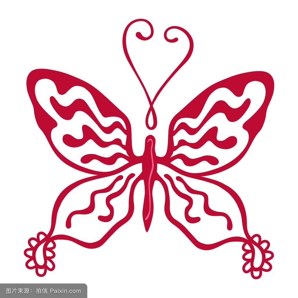 彩色的蝴蝶标志图片