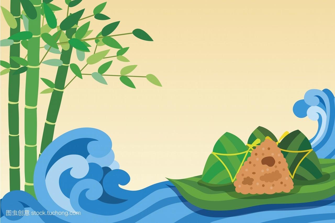 彩色图片,数字的,漫画,河流,假期,传统文化,插画和绘画,插画,端午节图片