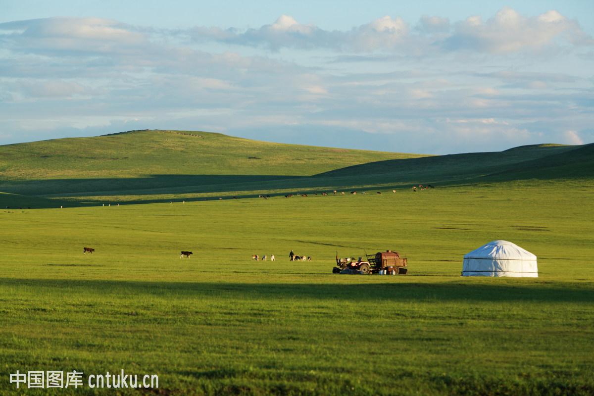 无人,风景,草原蒙古包群,农家乐蒙古包,呼和浩特,和林格尔县,呼伦贝尔图片