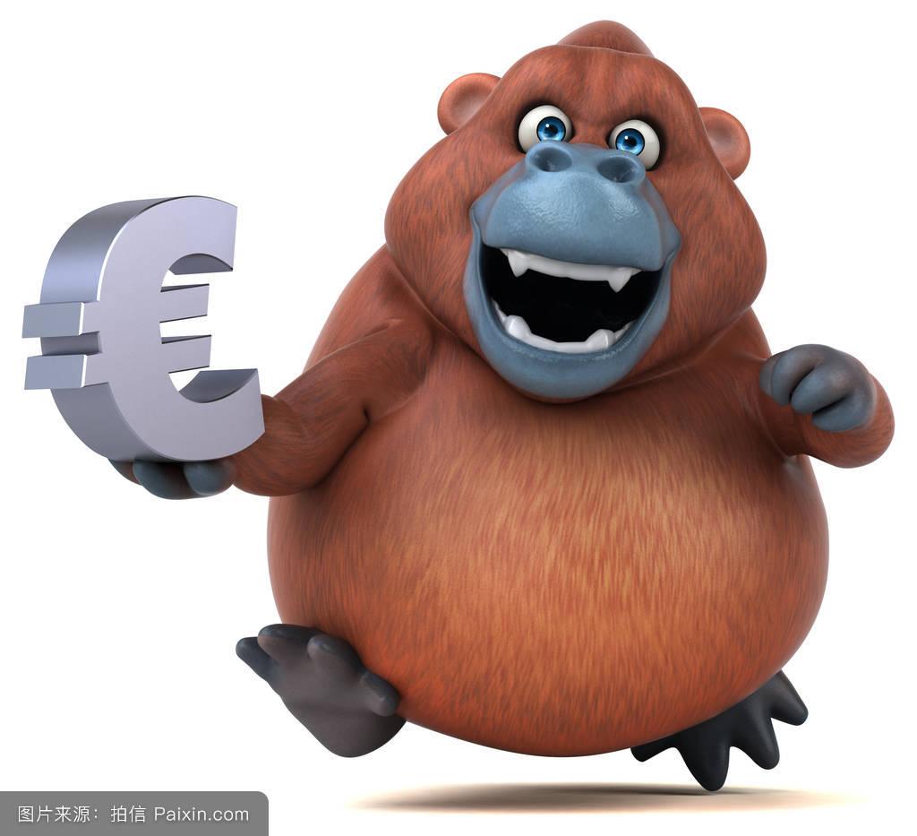 脂肪,灵长类动物,野生动物,3d,经济,有趣的,钱,彭哥,毛皮,欧洲,猩猩了图片
