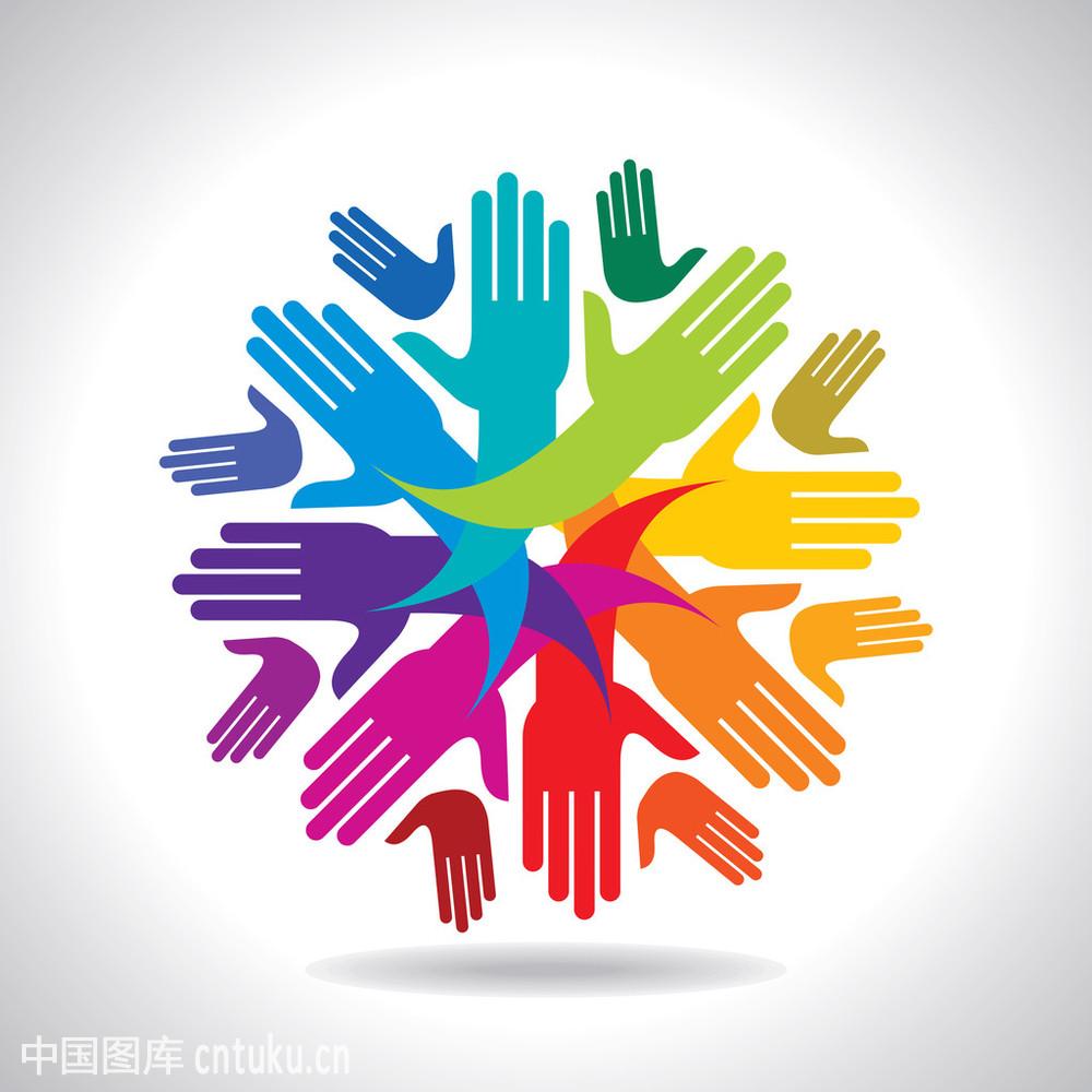 连接,联系,求助,人,人群,设计,图标,团队,团结,握手,友谊,支撑,象征图片