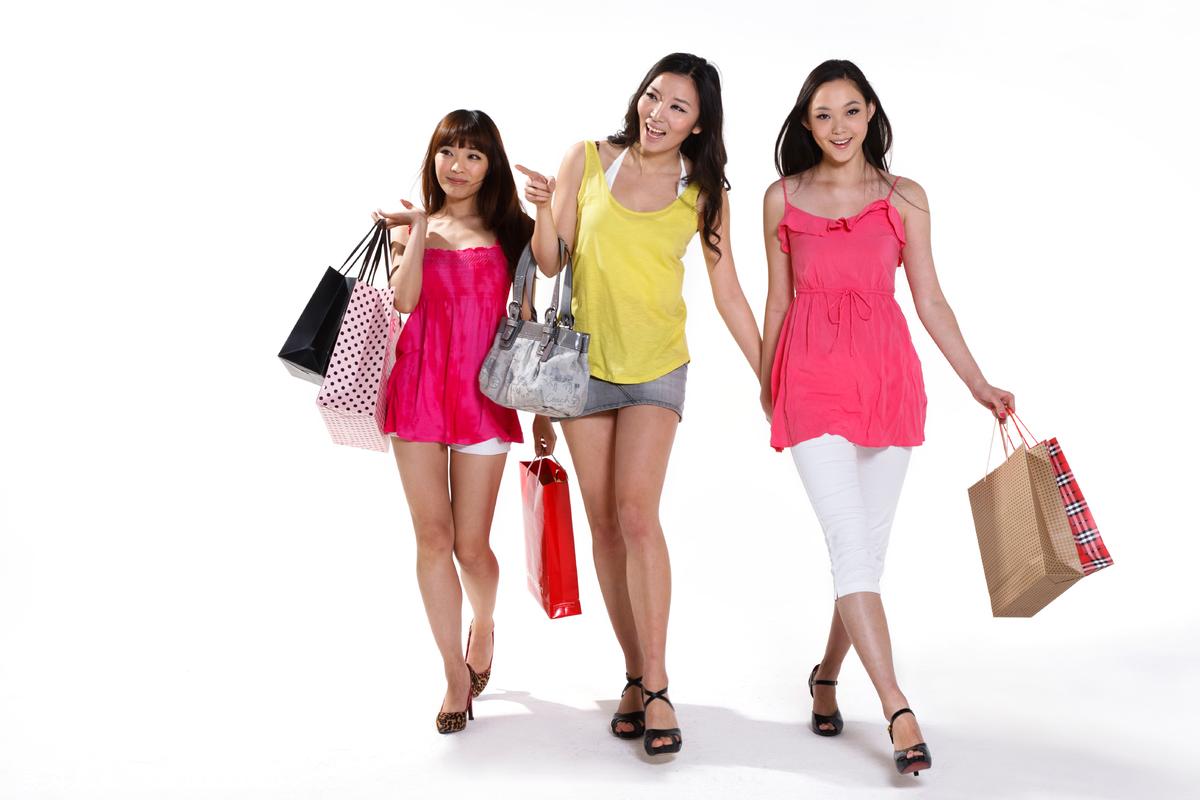 青年女人,青年文化,正面视角,高兴的,背景分离,团购,80后,90后,闺蜜图片