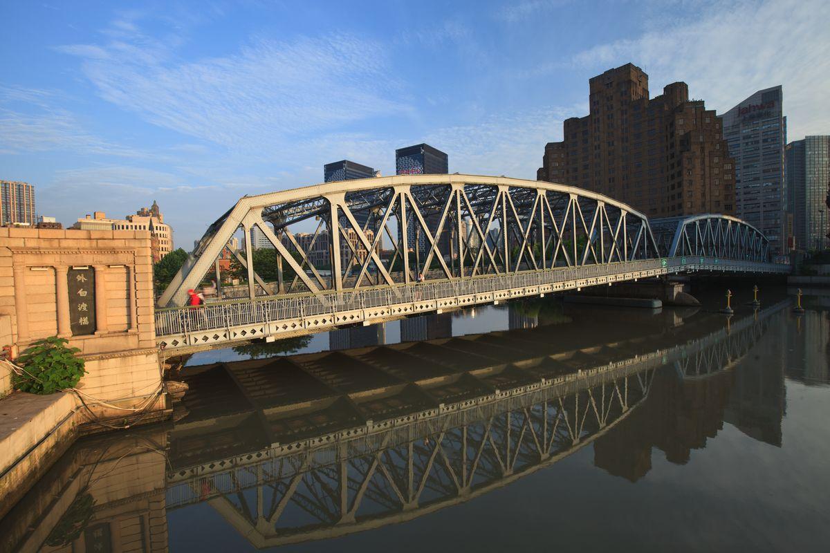 上海 桥梁 效果图