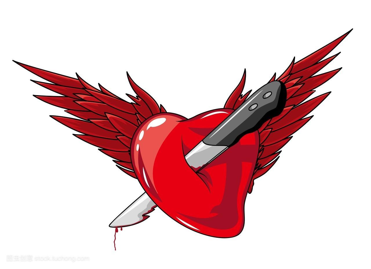 爱,图片,优雅,艺术品,矢量图,机翼,翅膀,边界,插画,金银丝细工,心形图片