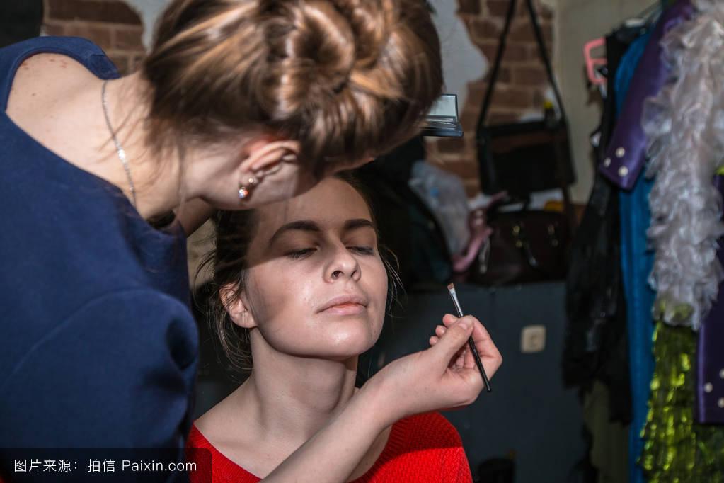 基洛夫,发型,女性的,艺术家,时装秀,专业的工作,女孩,理发师,俄罗斯图片