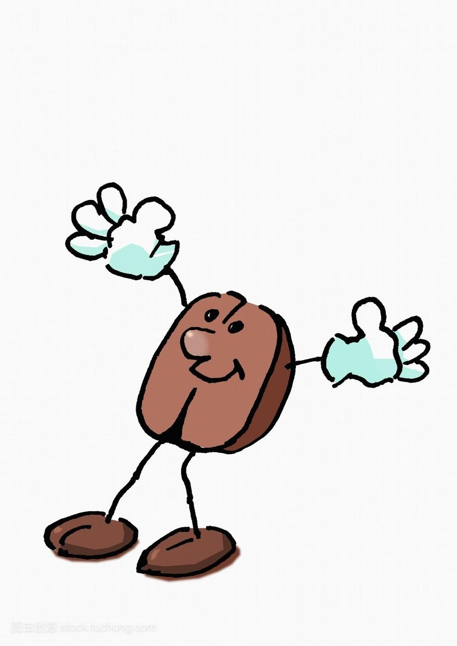 微笑,创意,有幽默感的人,咖啡,咖啡豆,餐饮,水果,营养,想法,物体图片