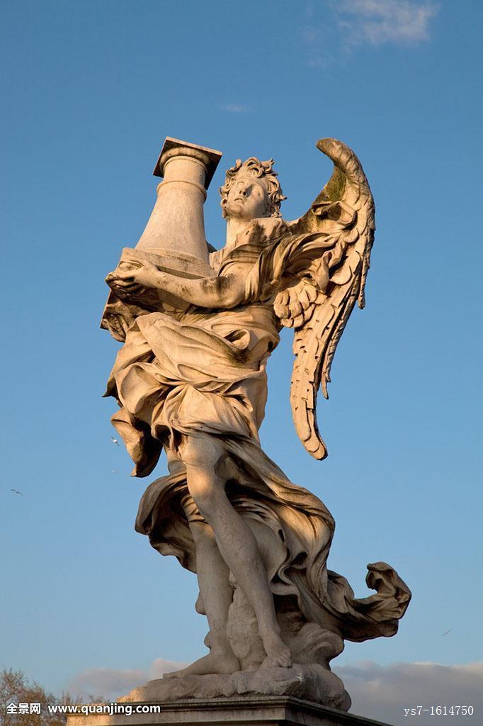 天使,雕塑,装饰,桥,罗马,拉齐奥,意大利,欧洲图片