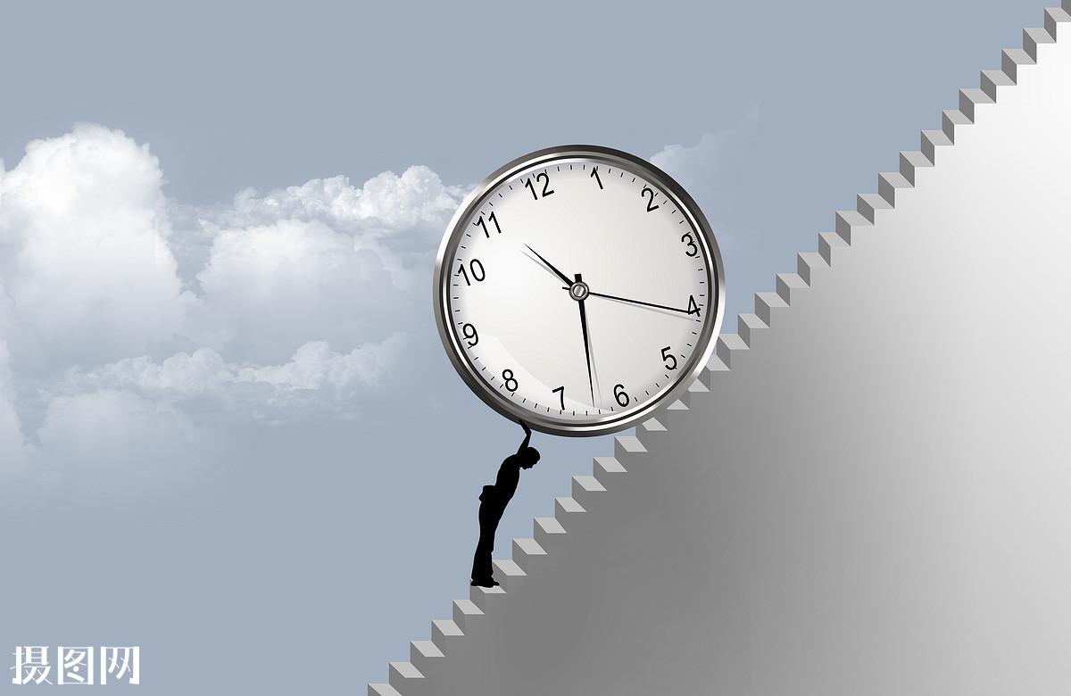 男人阻止时间流逝图片