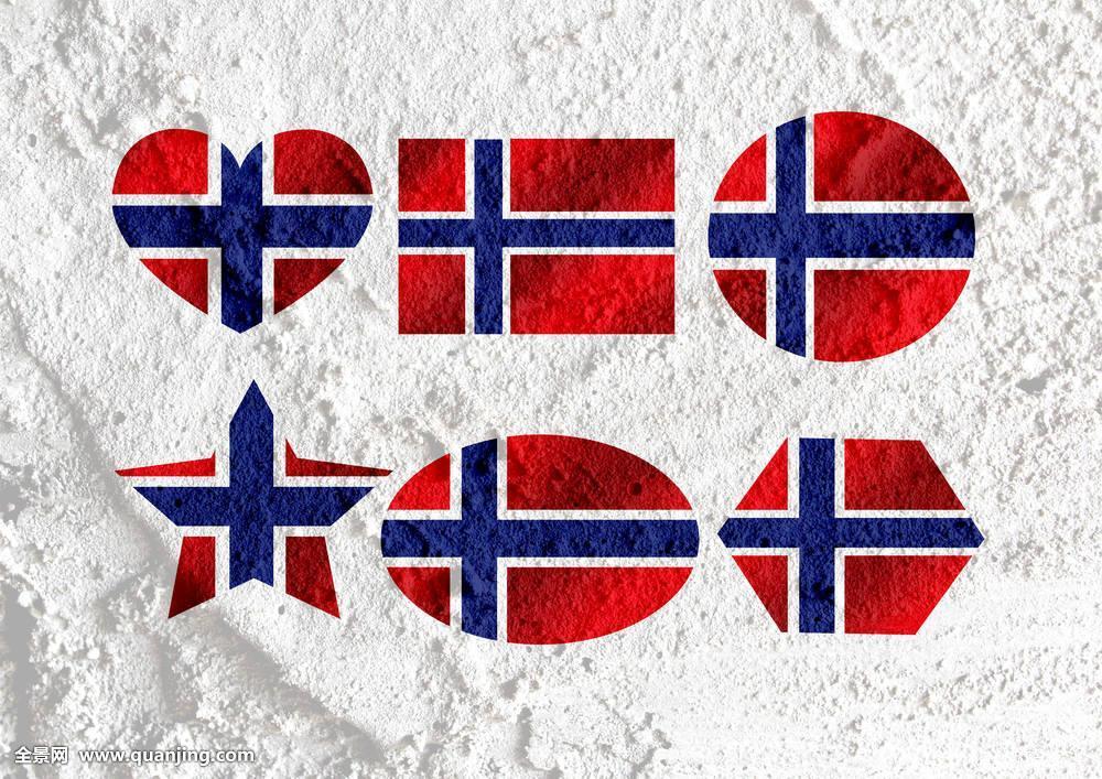 喜爱,挪威,旗帜,标识,心形,象征,水泥,墙壁,纹理图片