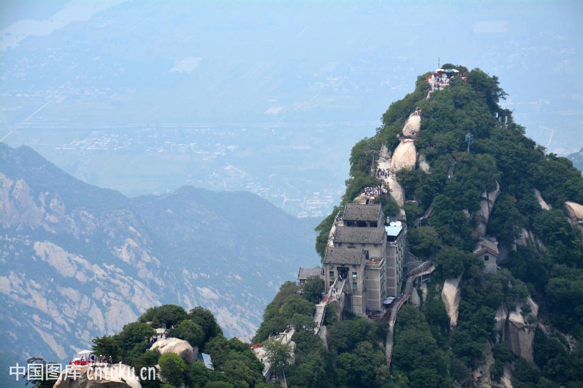 山脉,陕西,水平构图,白天,自然风景,地标,旅游景点,风景,华山图片