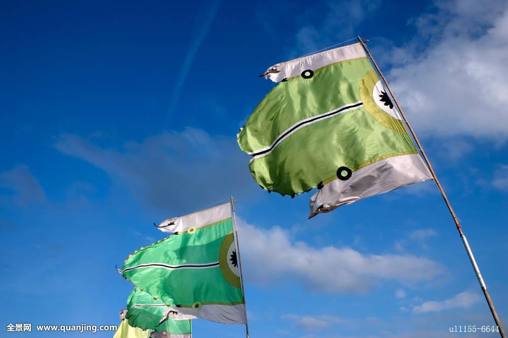 旗帜,展示,劳埃德,公园,萨里
