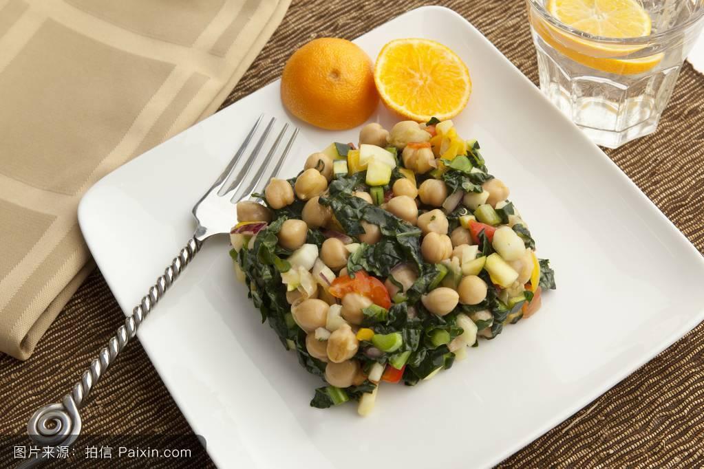 豆科,柠檬,素菜,在室内,广场,豆类沙拉,菜,免版税,白色的盘子,蔬菜图片