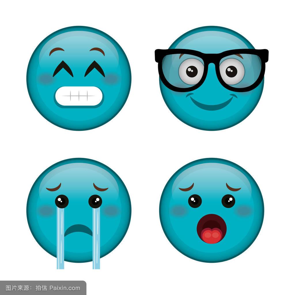 卡通,社会的,吉祥物,符号,表情符号,聊天,特殊的,头,矢量,签名,收集图片