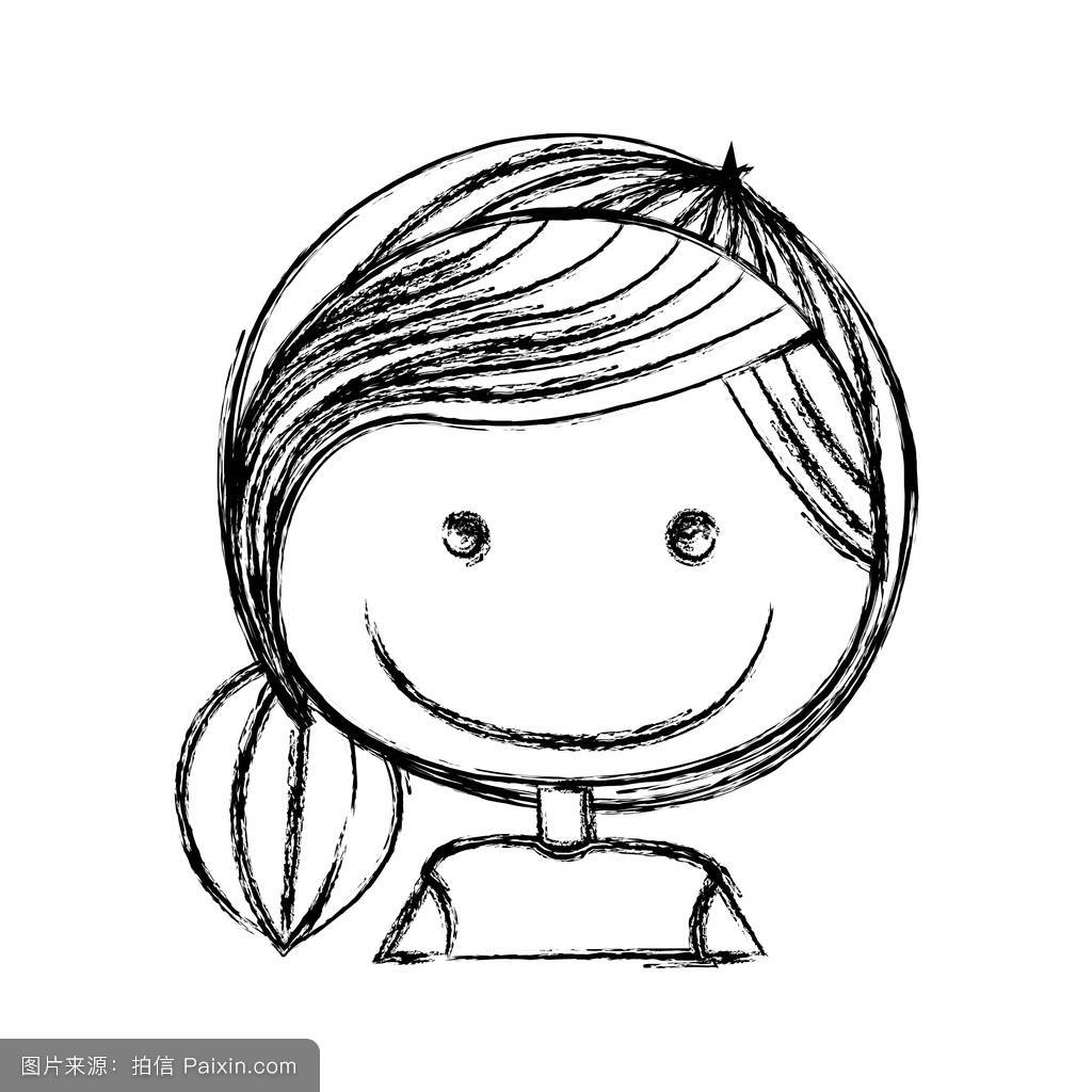 老师马尾头发简笔画分享展示图片
