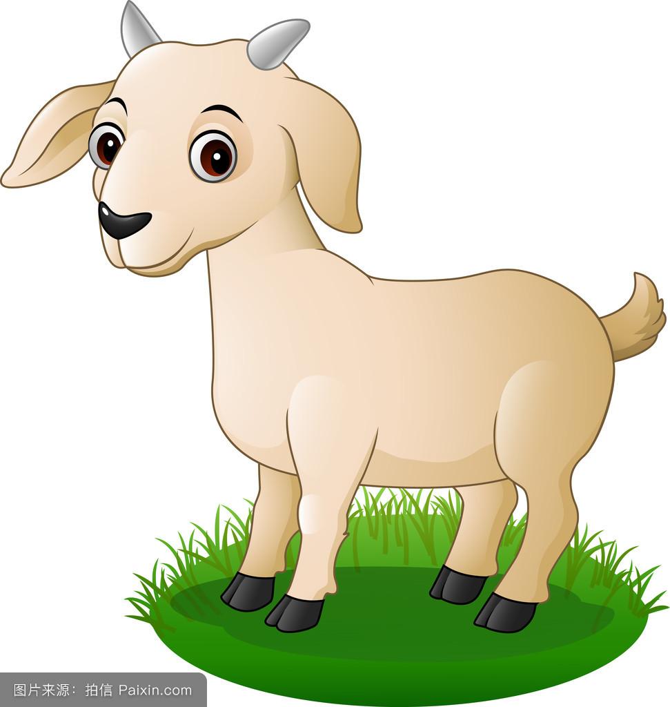 卡通,哺乳动物,吉祥物,角,繁殖,自然,肉,幸福的,分离,可爱的,站立图片