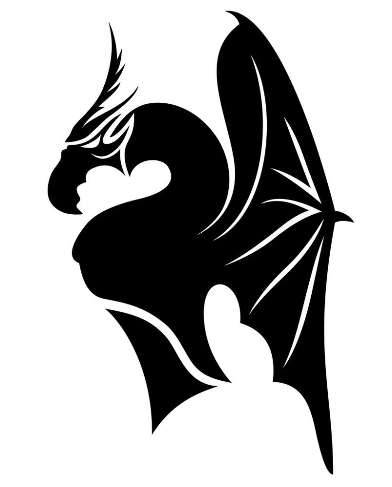 龙妓上身纹身图片展示图片