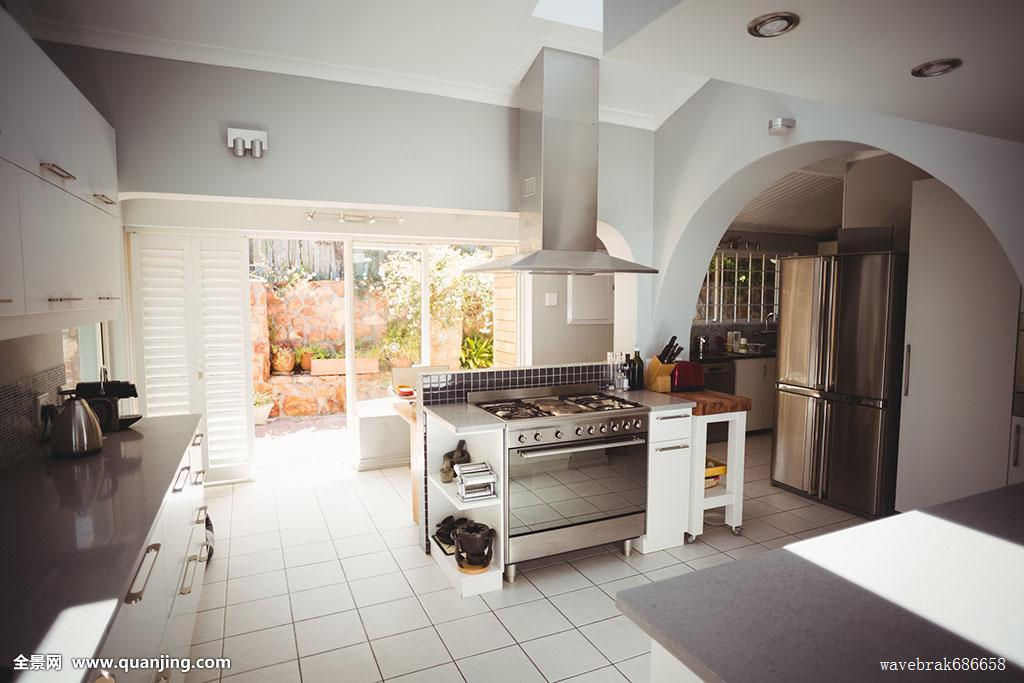 厨房,时髦,家,大厨房图片