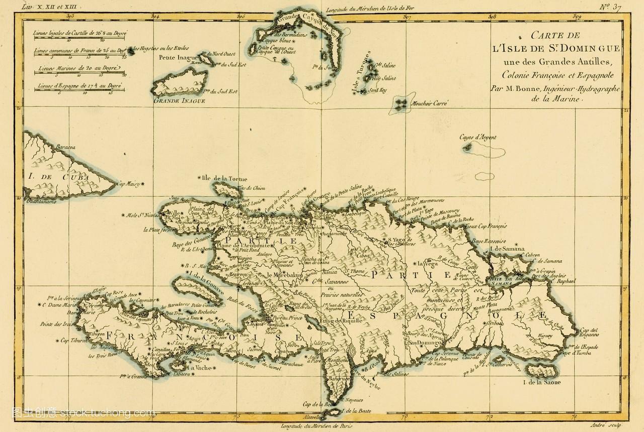 雕版,盘子,共和,绘图法,彩色,颜色,地图,地理,横图,多米尼加人,插画图片