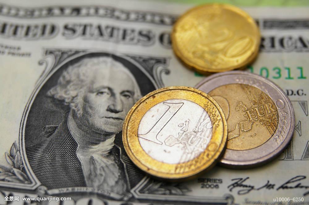 美元,欧元硬币,汇率图片