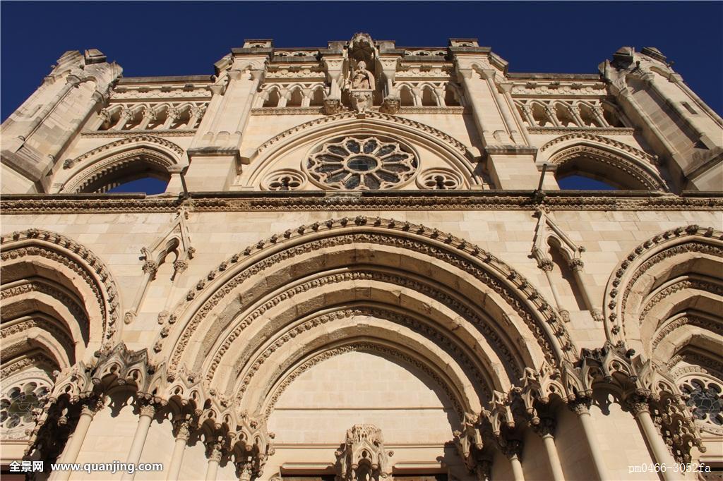 教堂,城市,城镇,大教堂,欧洲,西班牙,小,短小,景象,风景,远眺,远景图片