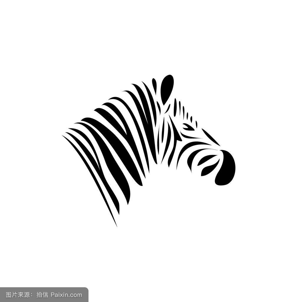 非洲,自然,标志,符号,徽章,线,头,马,丛林,绘画,能量,轮廓,伪装,斑马图片