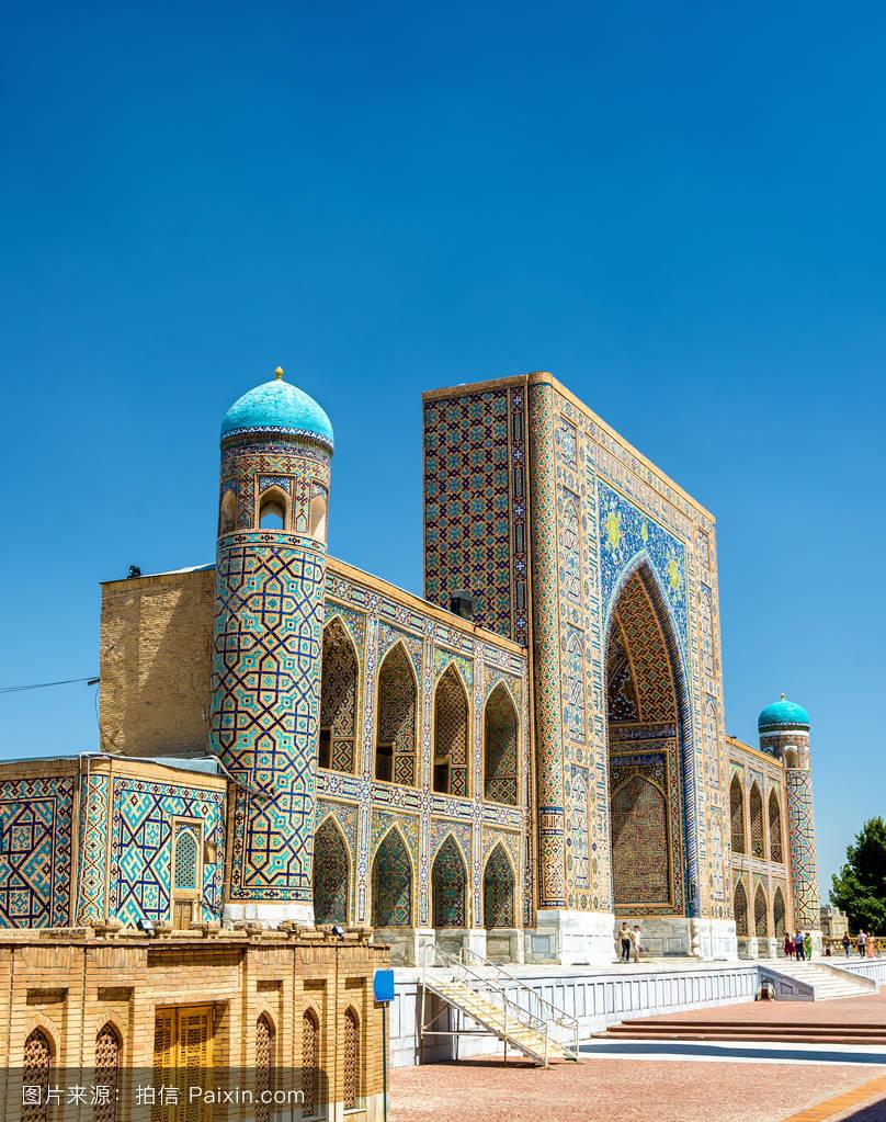 �~t_tilya kori madrasah在撒马尔罕