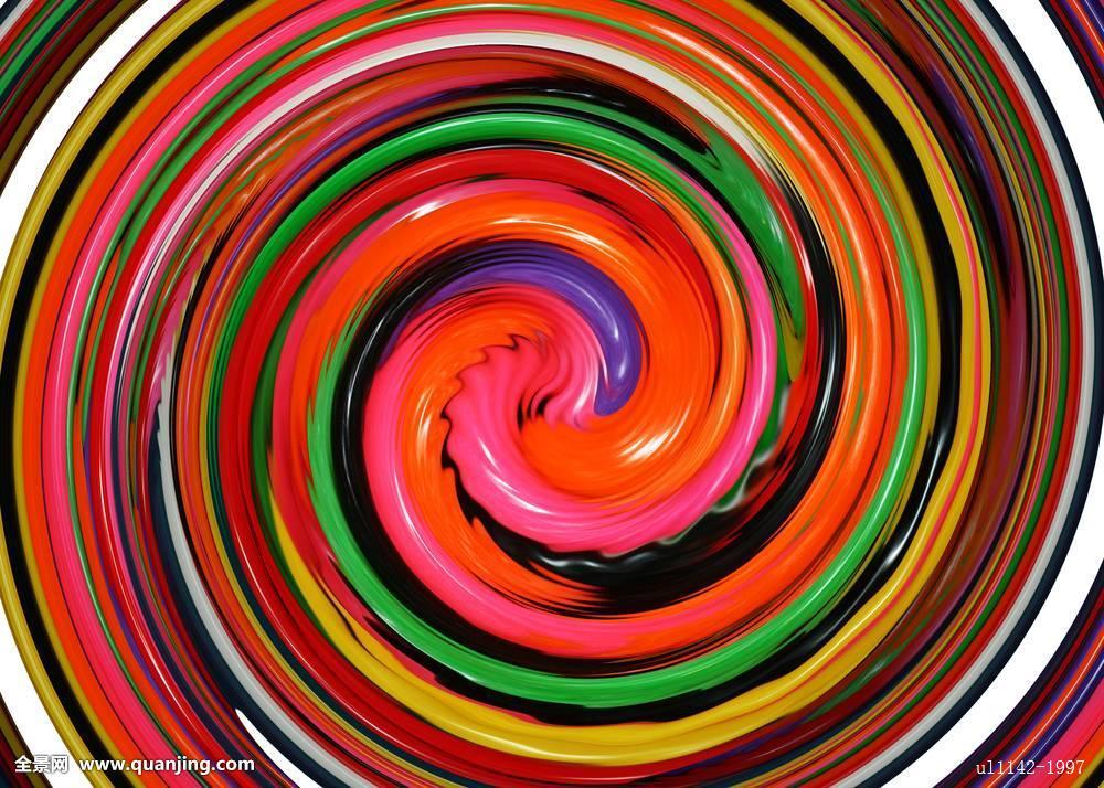 彩色,圆,圆形,构图,创意,弯曲,装饰,设计,插画,图像,现代,图案,彩虹图片