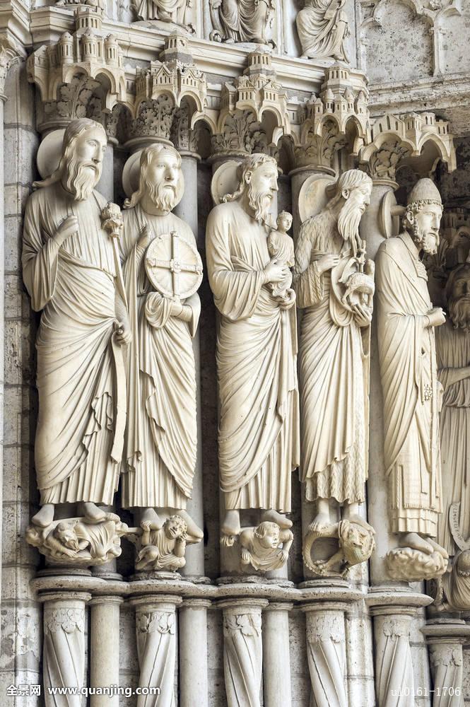 中心,沙特尔大教堂,厄尔卢瓦尔省,欧洲,古老,建筑,艺术,大教堂,天主图片