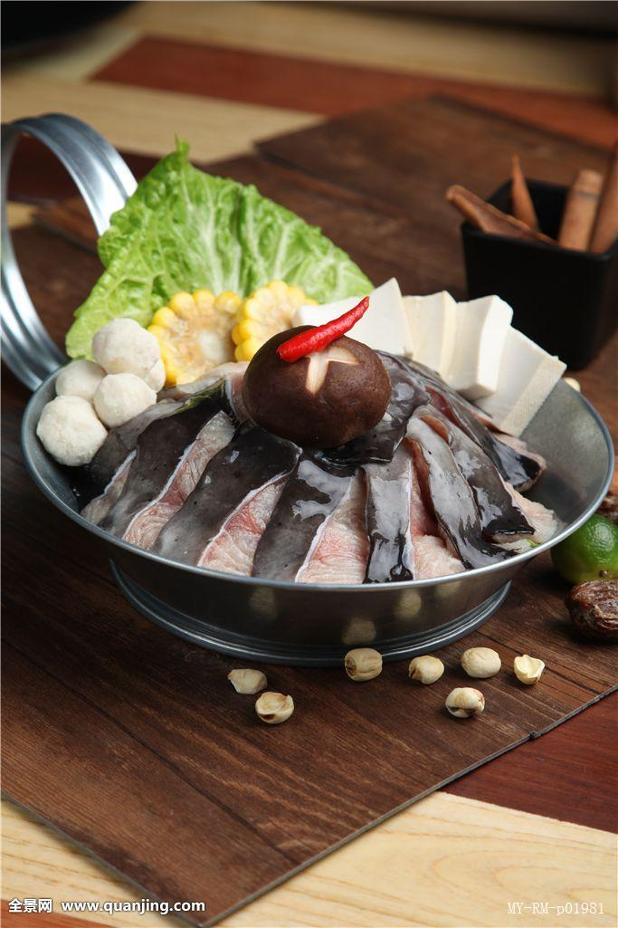 汤底,玉米,大葱,配料,自助,自助餐,自助火锅,辣椒,蘸料,锅,铁锅,鱼片图片