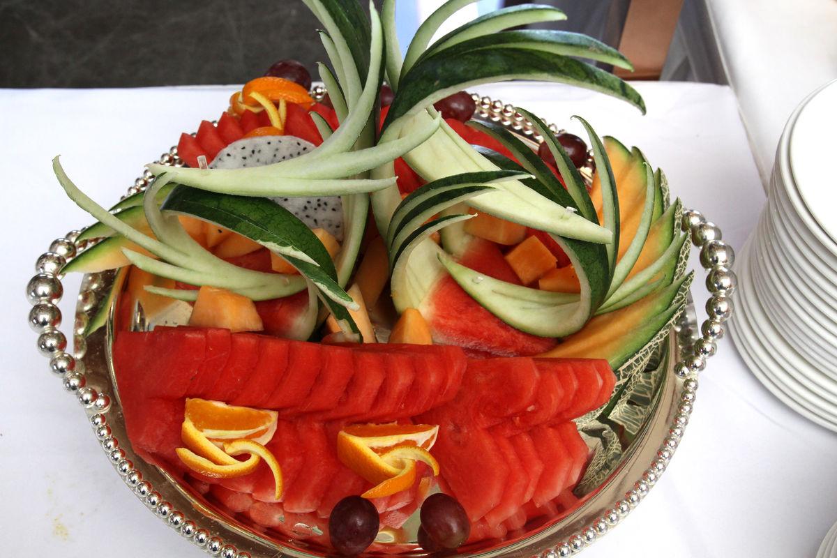 精致的水果拼盘摆法