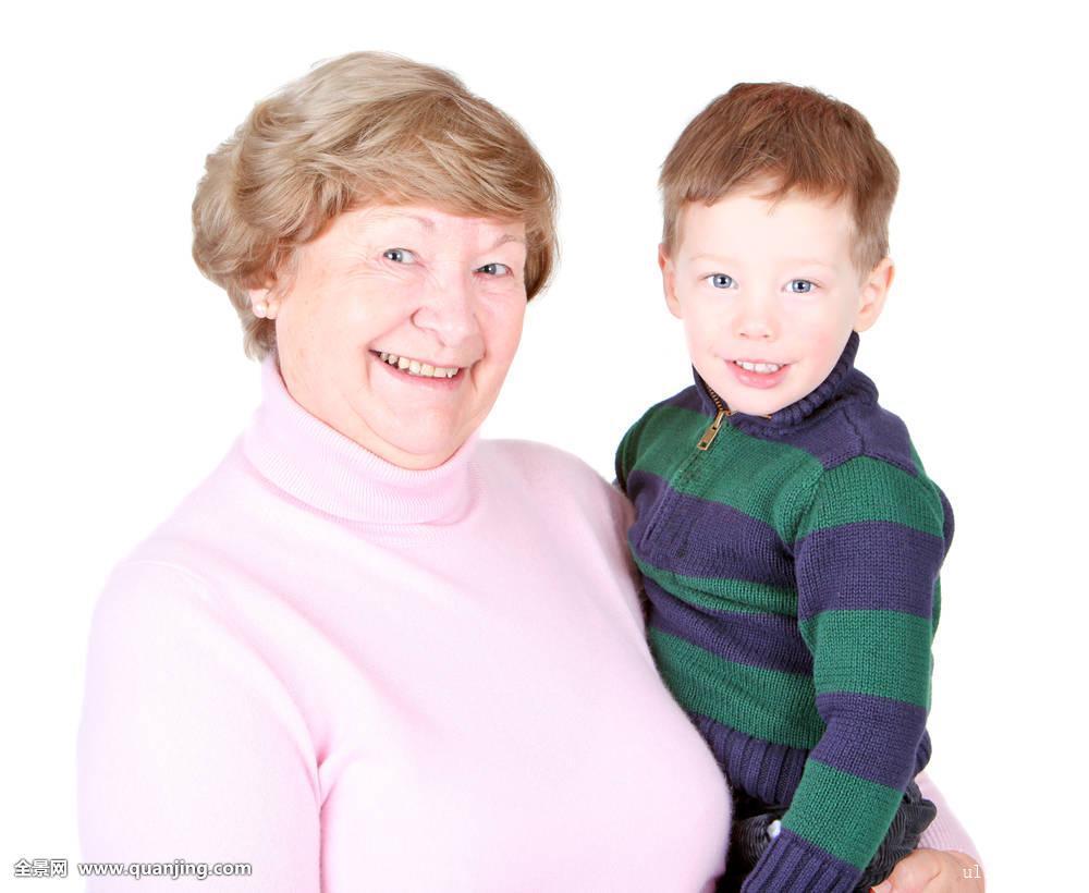 奶奶和孙子xinjiao_奶奶,祖母,祖父母,女人,老人,女性,漂亮,美女,可爱,拿着,搂抱,孙子