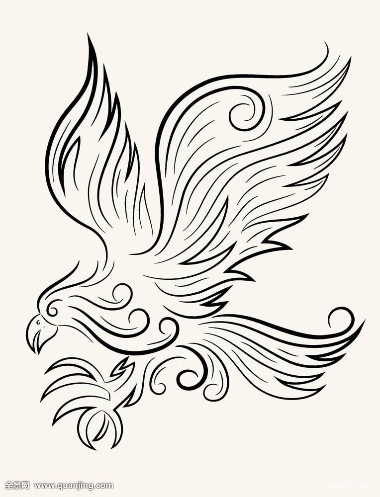 小清新浪花线条纹身图案手稿图片