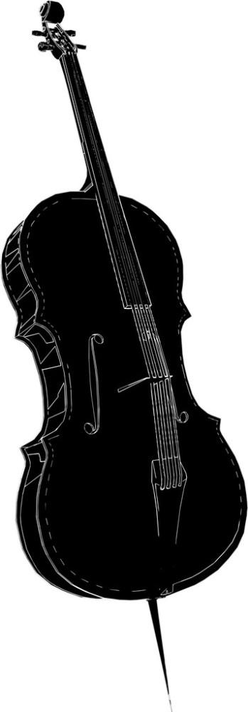 复古小提琴剪影分享展示图片