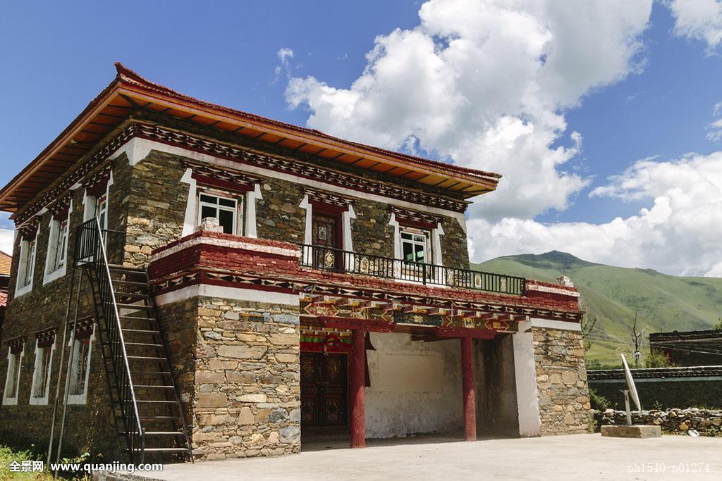 藏区,康定,新都桥,甘孜州,建筑,民居,民宿,文化,传统,石头,藏族,藏式图片