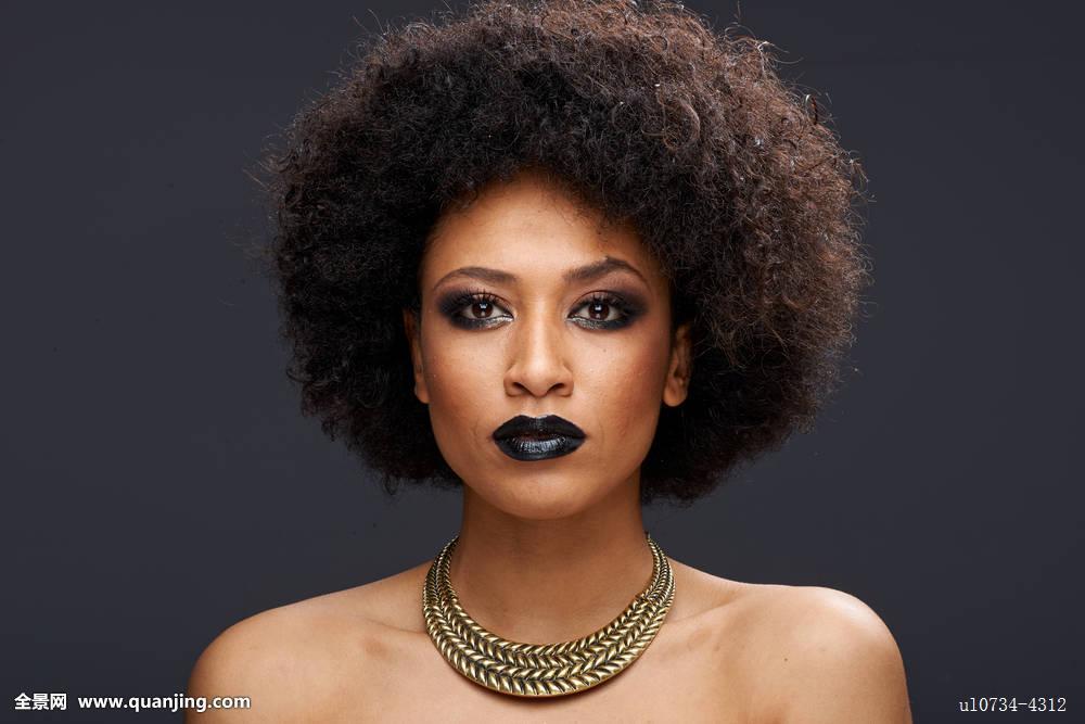 非洲,美国人,非洲式发型,美国黑人,魅力,背影,美女,美,卷曲,种族图片