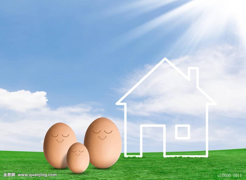 建筑,买,休闲,粉笔,白天,绘画,梦想,父亲,未来,草,家,房子,想像,投资图片