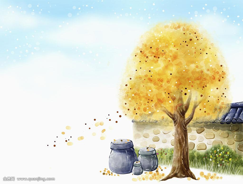 秋天画图片大全简单分享展示图片
