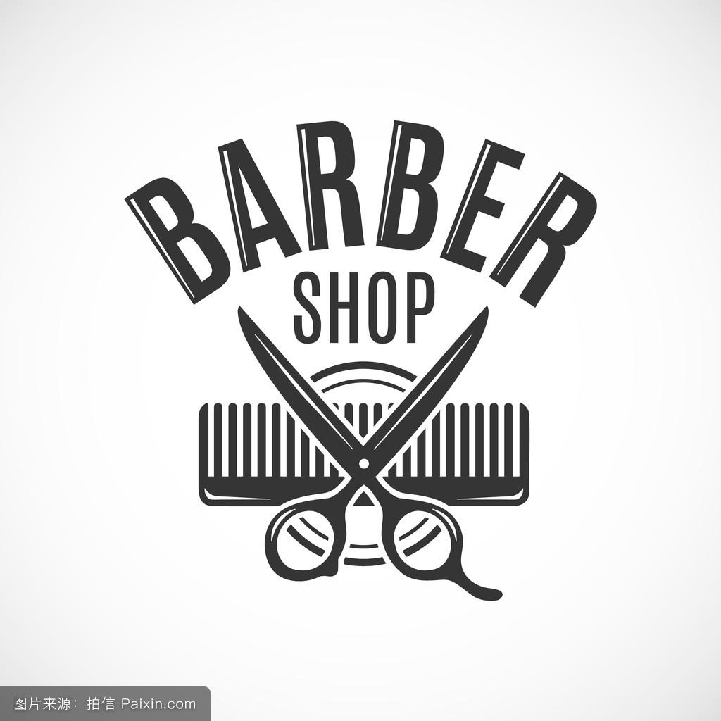 徽章,剪刀,标志,符号,沙龙,模板,头发,轮廓,商店,矢量,商业,图解的图片