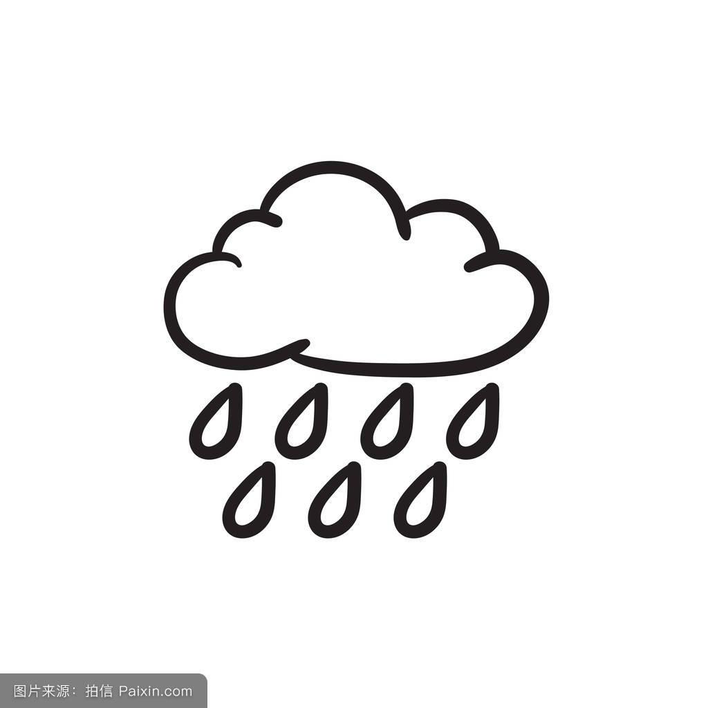 下雨表情符号分享展示图片