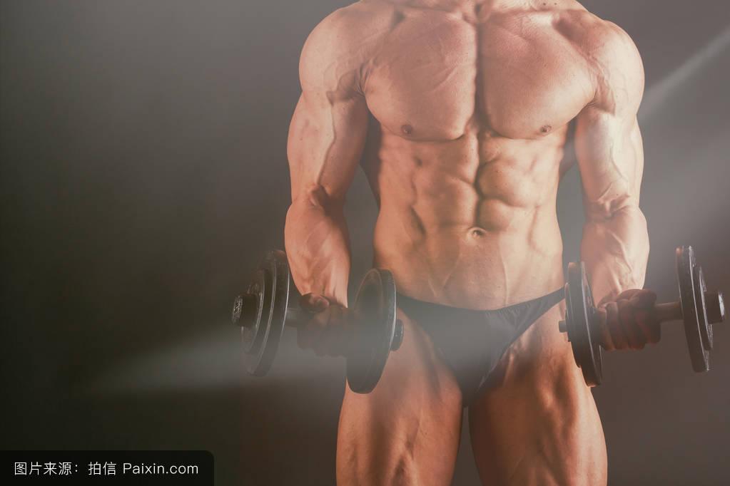 色人体高清_男性的,单独地,健美,美丽的,裸体的,古铜色的,人体躯干,苗条的,大