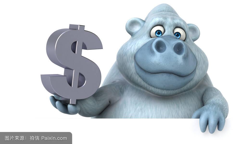 经济,有趣的,yetti,钱,毛皮,可恶的,白化病,动物,动物园,插图,大猩猩图片