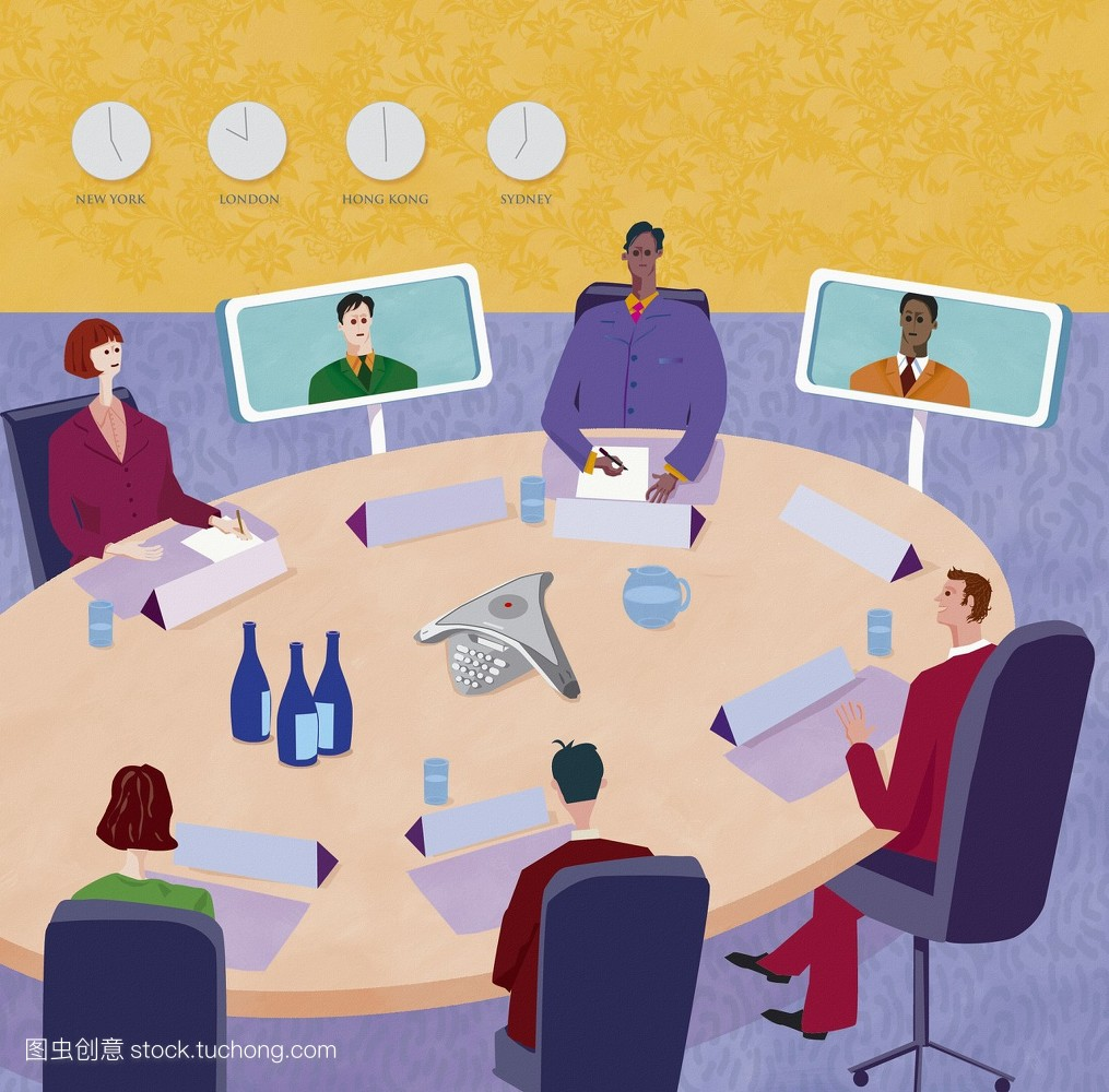 传达,商务会议,聚集,全球传播,工作伙伴,无线网络,视频会议,办公室图片