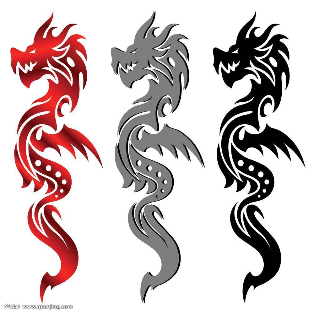 魔幻,怪兽,神秘,神话,华丽,绘画,剪影,风格,灵性,纹身,讲述,部族,传统图片
