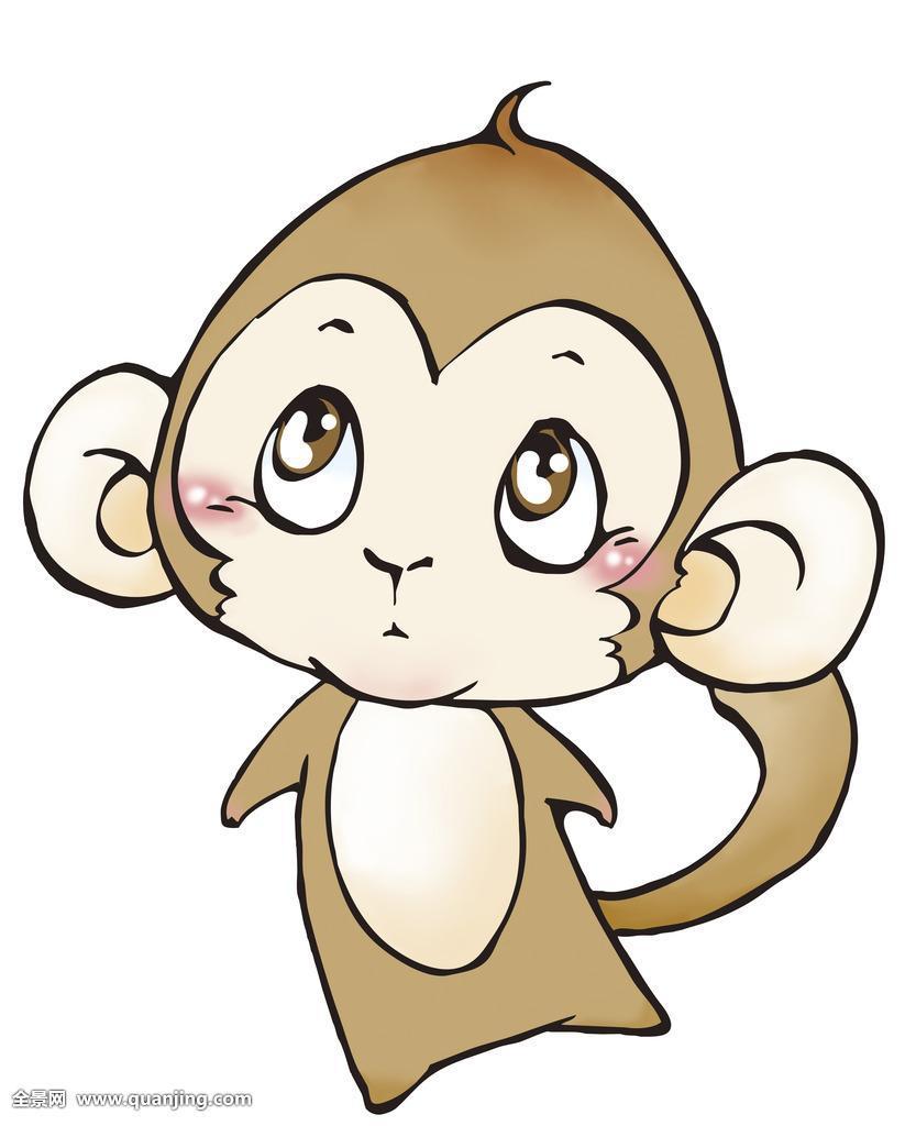 画猴子用什么颜色_猴,猴子,生肖,插画,竖图,照片,摄影,彩色,卡通,特写,颜色,鲜艳,多彩