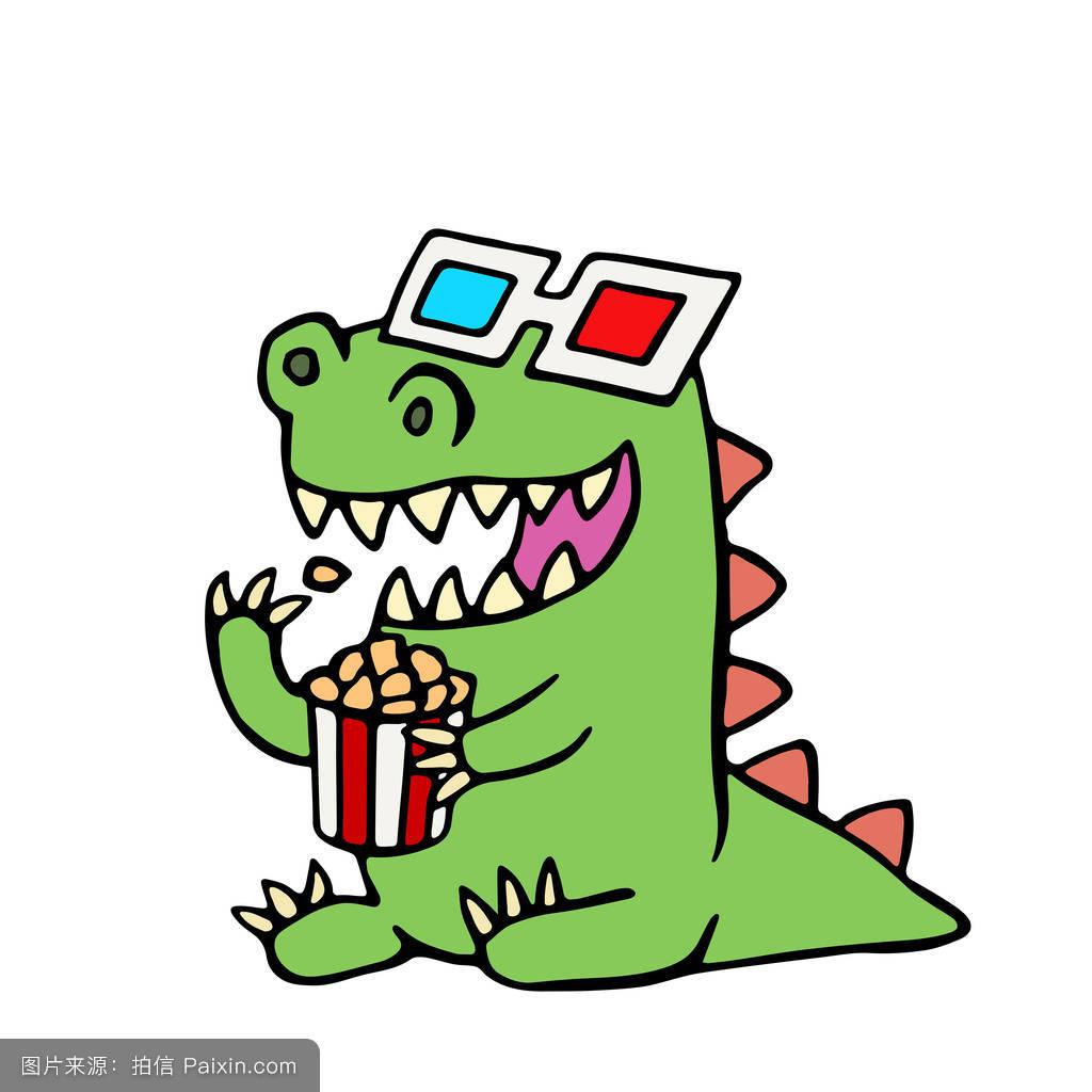 小恐龙qq表情包下载绿色的小恐图片