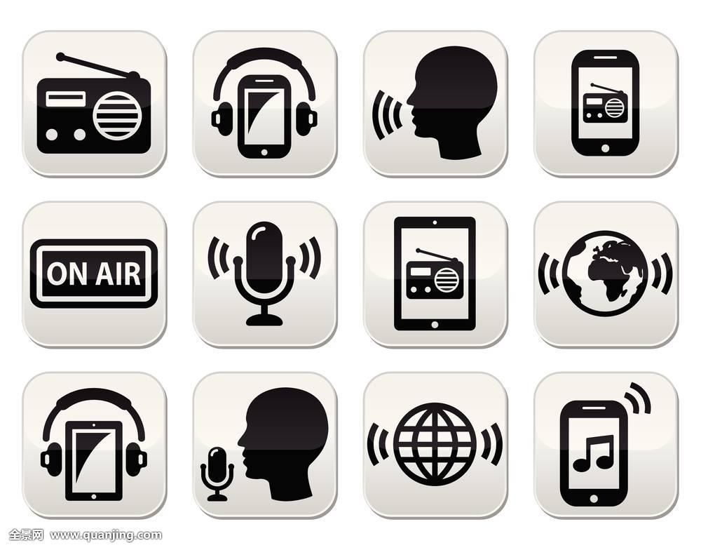 互联网,媒体,科技,音乐,声音,全球,听,唱片,麦克风,空气,广播,标识图片