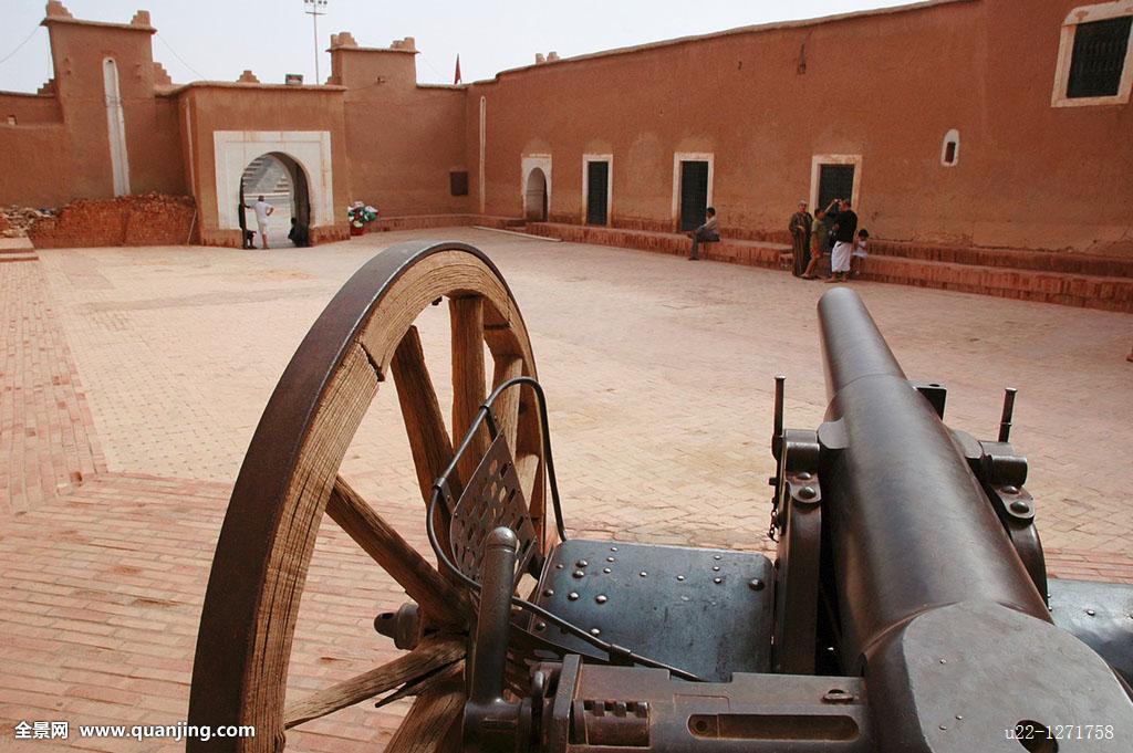 非洲大炮�9�e����e�il_非洲,大炮,卡斯巴,彩色照片,防卫,横图,摩洛哥,老,瓦尔扎扎特,陶里尔